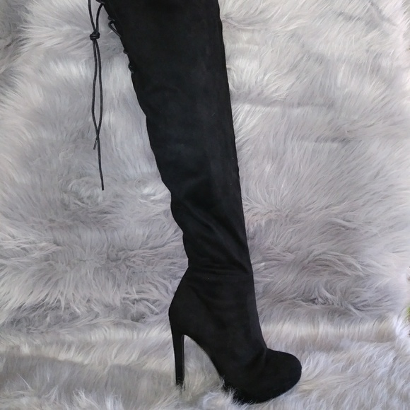 cad1e7b436d Suzanne suede over the knee boots
